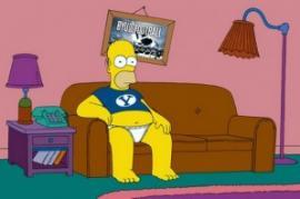 homer simpson canapé télé sport